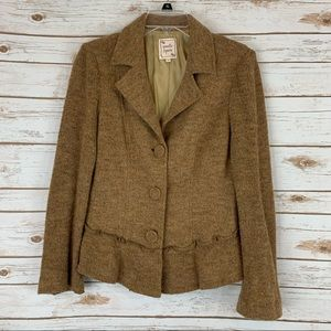 Nanette Lenore large wool blend jacket blazer tan